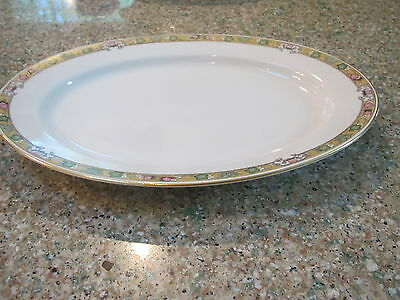 "Vintage Royal Bayreuth The Dover pattern 11 7/8"" L oval serving platter-Bavaria"