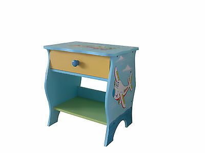 Children Furniture Kids Girls/boys Bedside Table With Drawer New 25