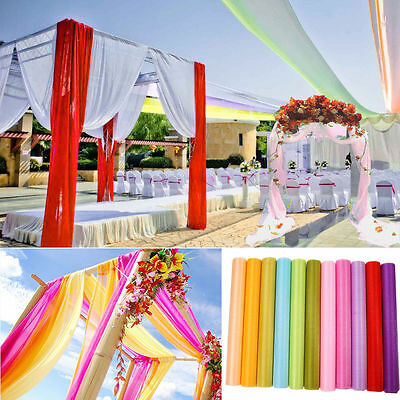 5M/10M Top Table Swags Sheer Organza DIY Wedding Party Bow Decorations Valance