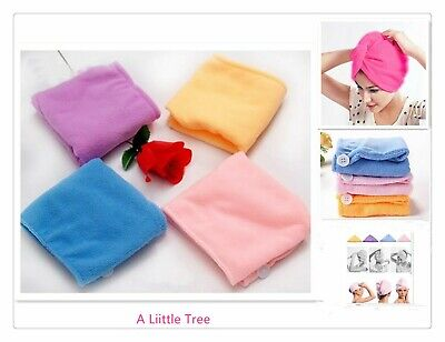 Large Size Magic Microfibre Hair Wrap Towel Hat Turban Quick Drying Dry Cap Bath