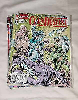CLANDESTINE 1-12 Partial Set 5 TOTAL ISSUES 1994 Series NM Marvel ALAN DAVIS