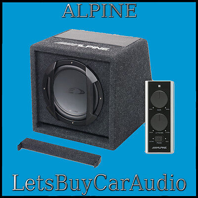 """ALPINE SWE-815 8"""" 20cm 150w AMPLIFIED SUBWOOFER BASS BOX INCLUDING WIRED REMOTE"""