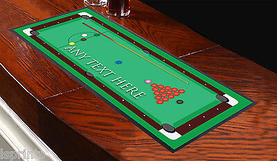 Personalised Snooker Table Design Bar Runner Ideal For Any Occasion Pub Club