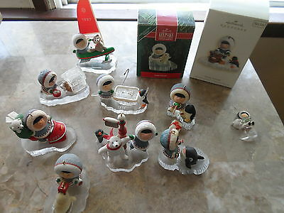 HALLMARK ORNAMENTS FROSTY FRIENDS LOT OF 10 ORNAMENTS AND PIN