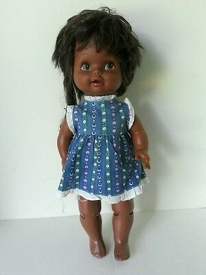 African American AA Baby Grows Up 1978 Mattel Doll Original Dress Works