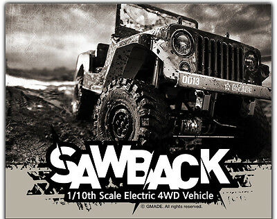 Gmade SAWBACK 1/10TH SCALE CRAWLER KIT GMA52000