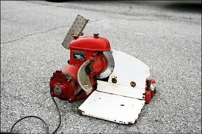 Vtg MEAT SLICER MACHINE industrial steampunk commercial age AMERICAN SLICING CO.