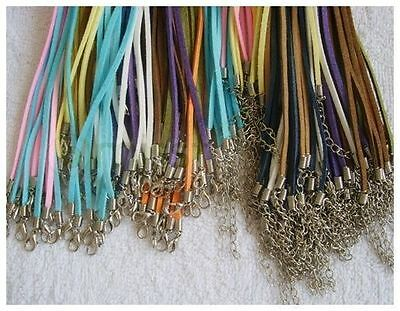 20-100 Faux Suede leather Necklace Cords Mixed New Colours For Hanging Pendants