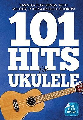101 Hits For Ukulele Blue Book Uke Book  9781783058686