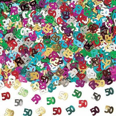 50th Birthday Metallic Table Confetti Party Decorations Age 50 Sprinkles