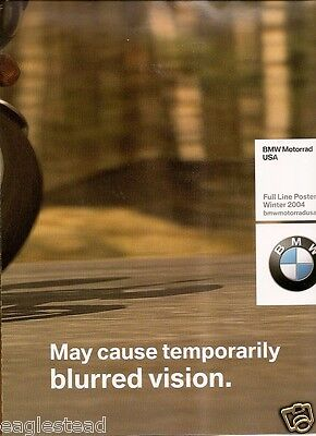 Motorcycle Brochure - BMW - F 650 CS - Product Line Poster Winter 2004 (DC380)