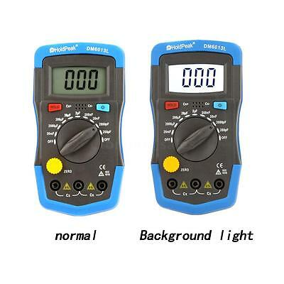 Handheld Digital Capacitor Capacitance Tester Meter With LCD Backlight Date Hold