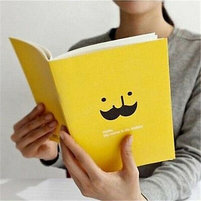 FD1026 Student Diary Note Book Cute Beard Stationery Memo Notepad ~Random~ 1pc A