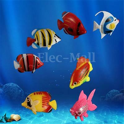 3-20pcs Poisson Tropicaux Artificiel Plastique Ornement Décor Aquarium Fish Tank