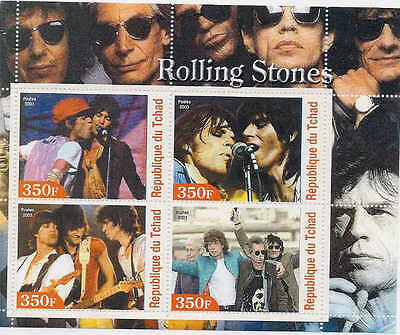 2003 Rolling Stones on Stamps - 4 Stamp  Sheet M0635
