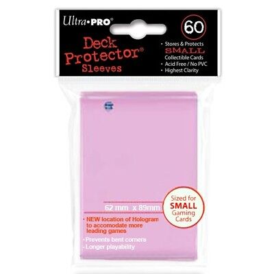 Ultra Pro 60 Small Size Pink Deck Protector Sleeves Fit Yugioh