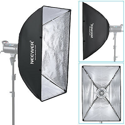 "Neewer Portable Softbox Bowens Mount  23.6"" X 35.4"" Rectangular with Diffuser"