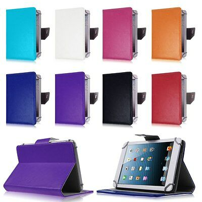 "Universal Adjustable Folio Stand Case Cover For Android Tablet PC 10.1"" 9"" 8"" 7"""