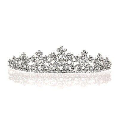 Bridal Floral Rhinestone Crystal Prom Wedding Crown Tiara 81059