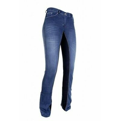 HKM Damen/Kinder Jodhpur Reithose SUMMER DENIM Gr.34-46 / 72-84 / Kinder 128-176