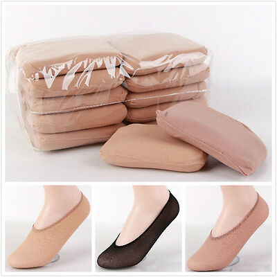 10 Pairs Fashion Lady Cotton Antiskid Invisible Liner No Show Ped Low Cut Socks