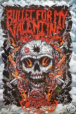 "BULLET FOR MY VALENTINE ""SKULL WITH BULLET HOLE"" ASIAN POSTER -Heavy Metal Music"