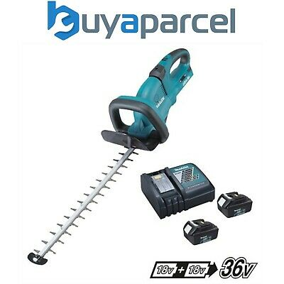 Makita DUH551 Twin LXT 18v / 36v Lithium Ion Hedge Trimmer + 2 x 3.0ah + Charger