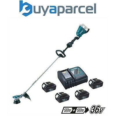 Makita DUR364L Twin LXT 18v 36v Li-Ion Brushless Line Trimmer 4 x 3.0ah Charger