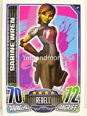 #004 Sabine Wren - Star Wars Rebel Attax