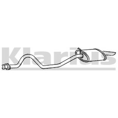 1x KLARIUS OE Quality Replacement Rear End Silencer Exhaust For JEEP Petrol