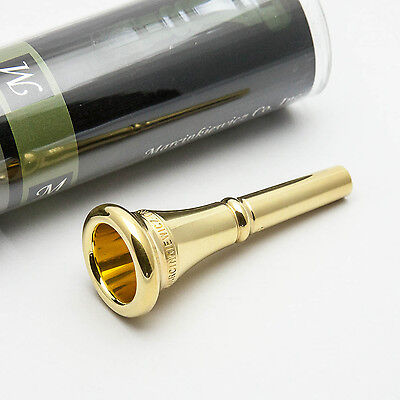 Genuine Marcinkiewicz 15 24K Gold French Horn Mouthpiece NEW