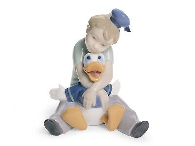 Nao By Lladro #1642 Daydreaming With Donald Brand Nib Disney Duck Free Shipping