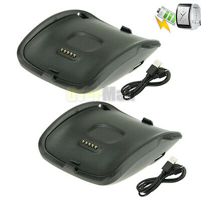 x2 Charging Dock Charger Cradle For Samsung Galaxy Gear S Smart Watch SM-R750