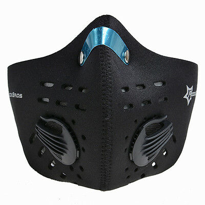 RockBros Bike Cycling Anti-dust Half Face Mask with Filter Neoprene Black