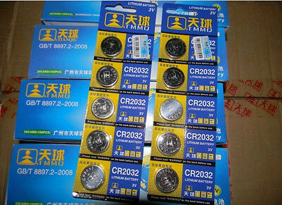 Wholesale 5PCS CR2032 LM2032 DL2032 3V Watch Toy Remote Button Cell Coin Battery