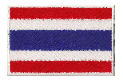 Écusson drapeau Thailande Thai patche thermocollant patch 7x4,5cm