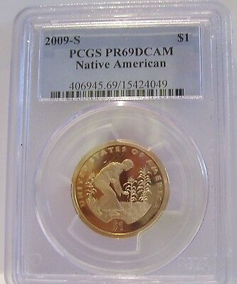 2009-S $1.00 One Dollar Sacagawea Native American-Pcgs Pr69 Dcam Coin