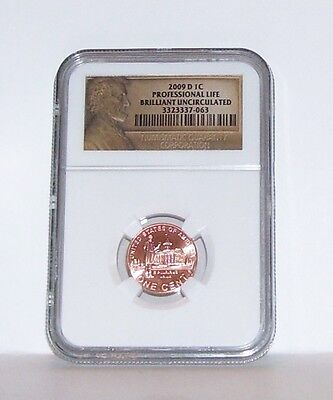2009-D Lincoln Professional Life Ngc Brilliant Uncirculated Penny  1¢ Cent Coin