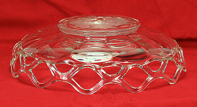 Elegant Imperial Glass Lace Edge Frosted Intaglio Fruit Bowl