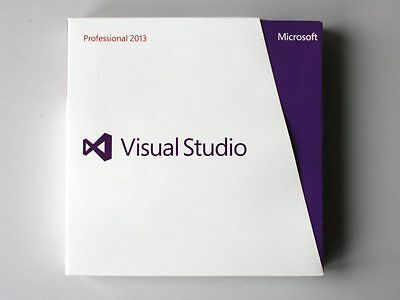 Microsoft Visual Studio 2013 Professional Vollversion, en/de - neu, C5E-01018