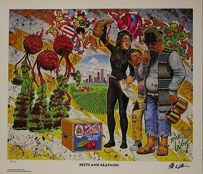 Robert Williams Beets And Beatniks Limited Edition Lowbrow Print Signed Numbered