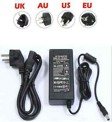 NEW DC12V 5A 60W Power Supply AC adaptor Charger Line For 5050 3528LED Strips US
