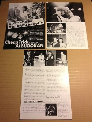1978 Cheap Trick 5pg 11 photo JAPAN magazine article /press clipping cutting 10m
