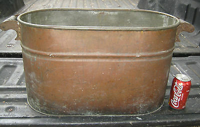 American Antique Country Copper Wood Whisky Still Boiler Kettle Flower Planter