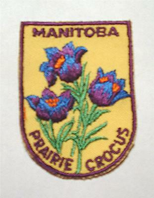 NEW VINTAGE 1970's MANITOBA, CANADA SOUVENIR SEW-ON FABRIC PATCH