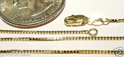 10kt Solid Gold 24 inch .8MM BOX CHAIN-LOBSTER LOCK..Gift Box...100% Guaranteed!