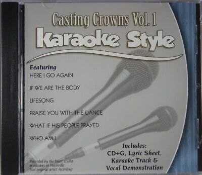 Casting Crowns Volume 1 Christian Karaoke Style NEW CD+G Daywind 6 Songs