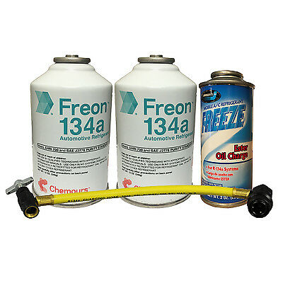 134a Quick Charge Kit R-134a Refrigerant, Oil Charge & Can Tap