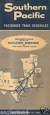 Railroad Timetable - Southern Pacific - 25/10/64