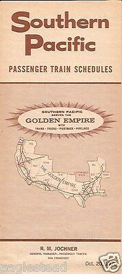 Railroad Timetable - Southern Pacific - 20/10/70